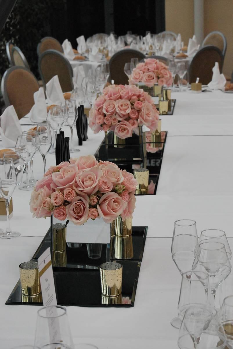 D coration florale pour table lyon 3 couleurs vert for Decoration florale table