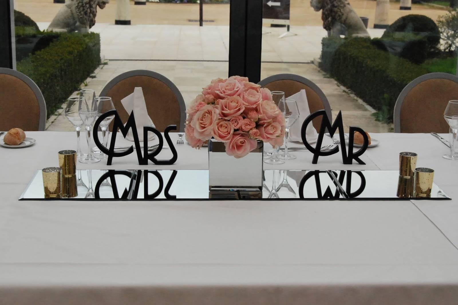 décoration florale pour table lyon - 3 couleurs vert