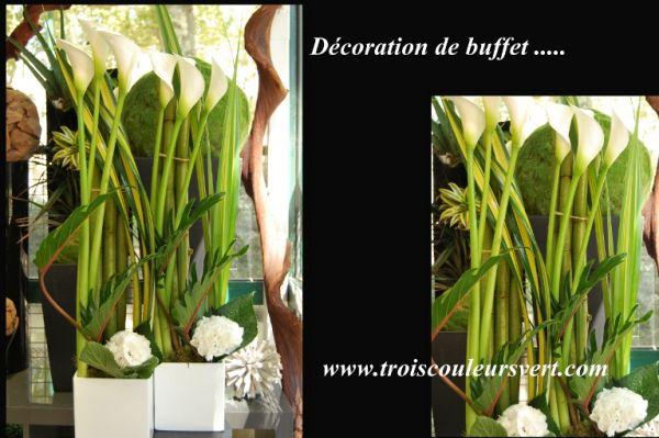 ... buffet Lyon - Livraison de fleurs à Lyon - Trois Couleurs Vert